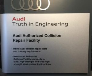 audi authorized collision repair facility certificate