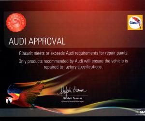 Audi Approval certificate