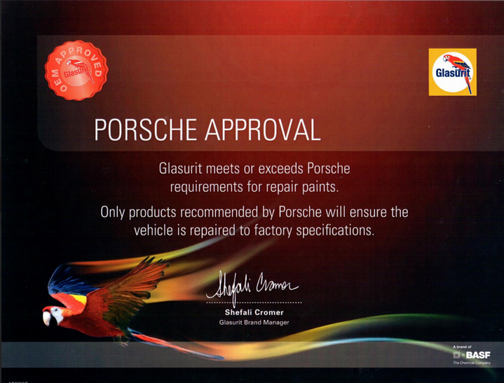 porsche approval