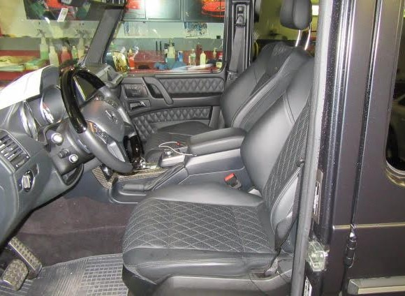 Inside of Mercedes G63