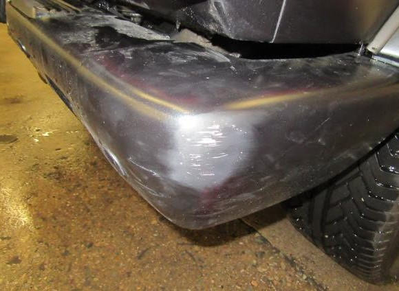 Mercedes G63 bumper damage