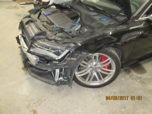 Audi Front End Damage