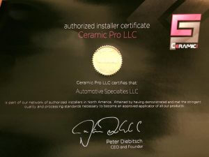 ceramic pro coating certificate